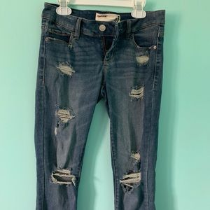 ripped jeans from garage